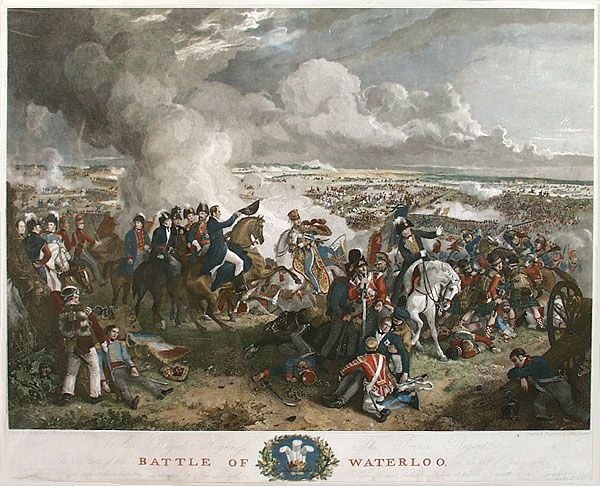 Battle of Waterloo by Robinson, circa 1820