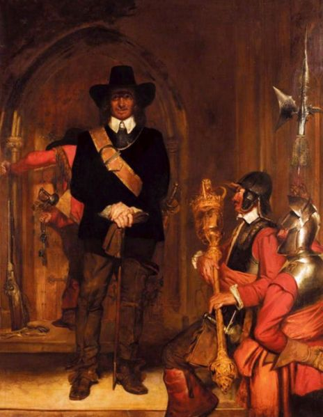 Oliver Cromwell Imprisoning King Charles I