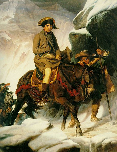 Napoleon Bonaparte Crossing the Alps by Delaroche