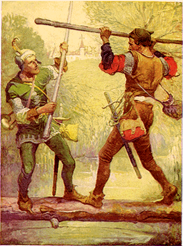 Robin Hood and Little John by Louis Rhead, 1912