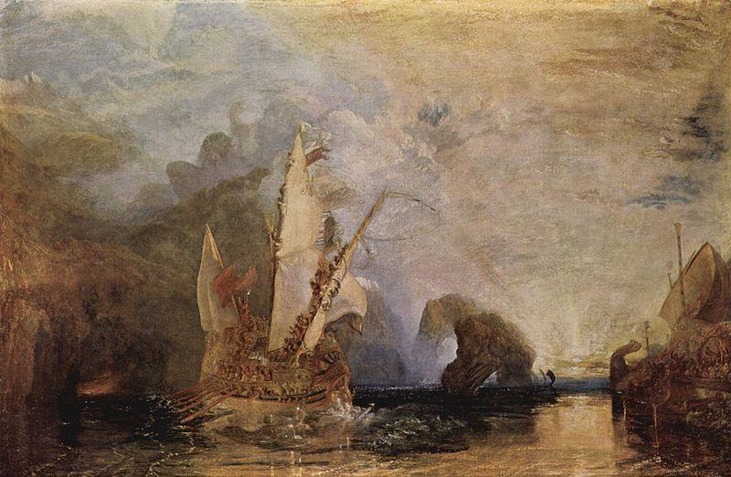 Odysseus derides Polyphemous by Turner